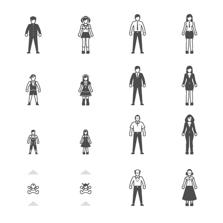 People and Family icon set