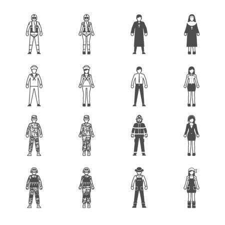 occupation: People and Occupation icon set