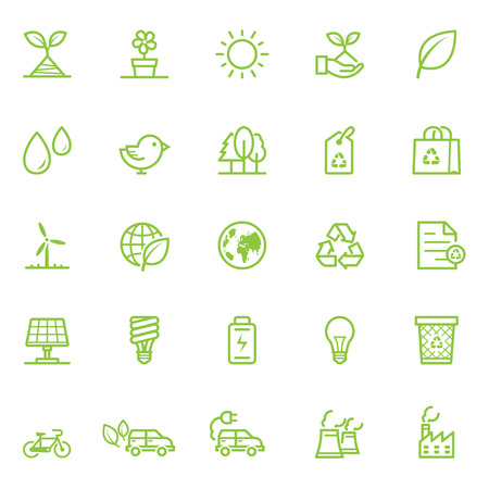 bag of soil: Ecology icons with White Background