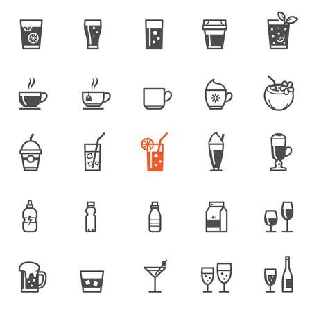 bebida: Bebidas e ícones bebidas com fundo branco
