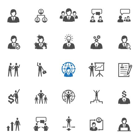 human resource: Management and Human resource icons with White Background Illustration