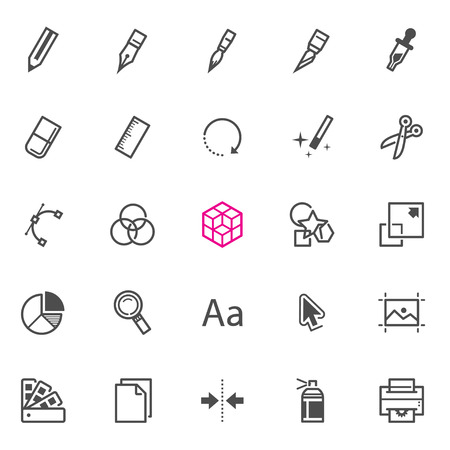 graphic design: Graphic Design icons with White Background