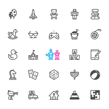 top gun: Toy icons with White Background