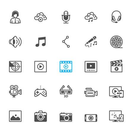multimedia background: Multimedia icons with White Background