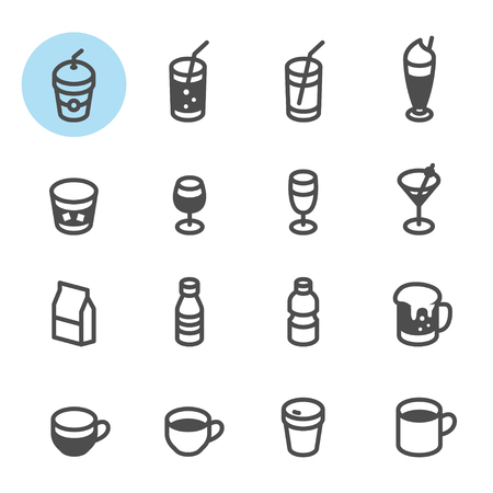 spirituous: Drinks and Beverages icons with White Background