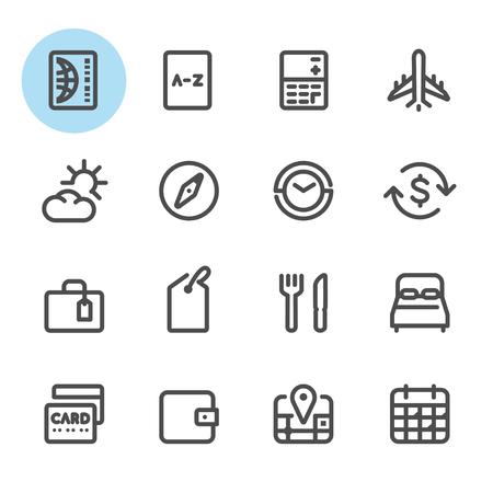 Travel icons with White Background Ilustração