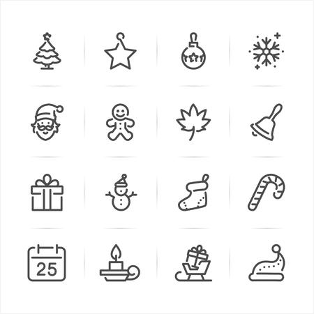 Christmas icons with White Background Ilustração