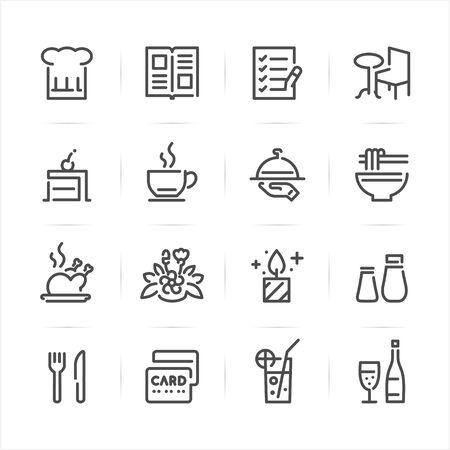 Restaurant icons with White Background Ilustração