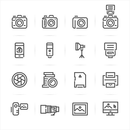 polarizing: Camera icons with White Background
