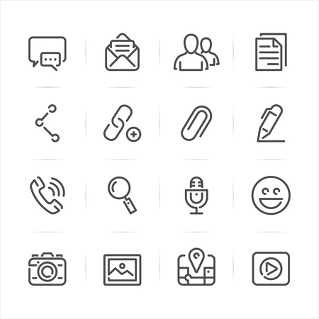 Chat Icons for Application with White Background Ilustração