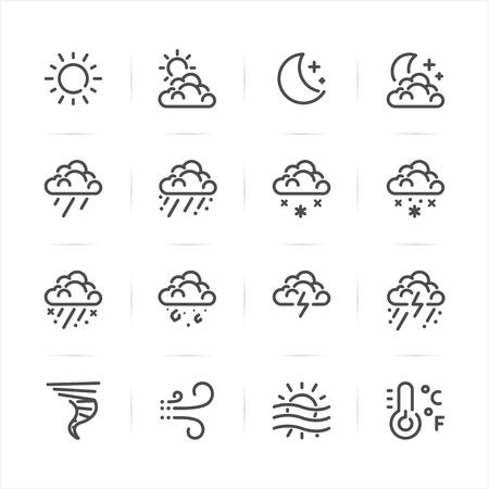 Weather icons with White Background Ilustração