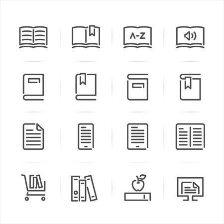 Book icons with White Background Ilustração