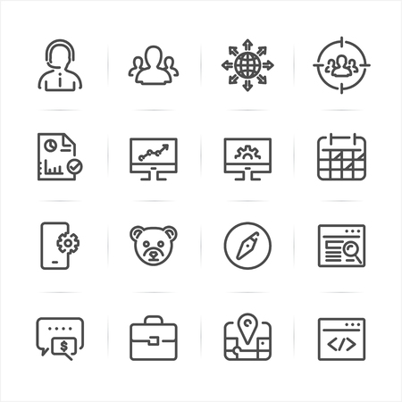 SEO and Development icons with White Background Banco de Imagens - 69073551
