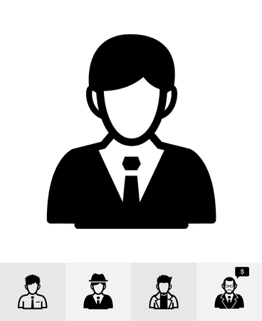 Businessman icons with White Background