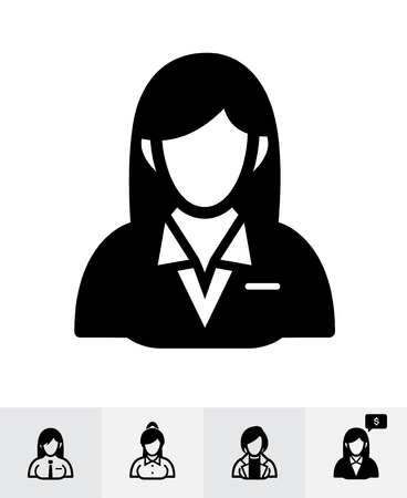 Businesswoman icons with White Background