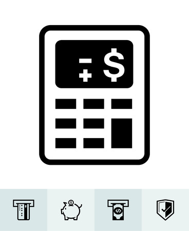 Finance icons with White Background Banco de Imagens - 109588614