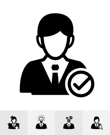 Management and Human resource icons with White Background Stock Illustratie