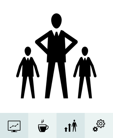 Business icons with White Background Banco de Imagens - 109588557