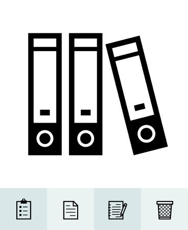 Office and Business icons with White Background Stock Illustratie