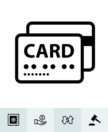Finance icons with White Background Banco de Imagens - 109588618