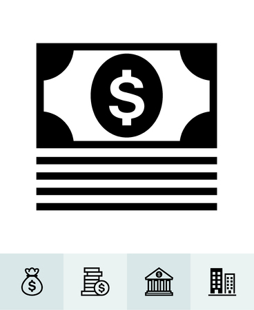 Finance icons with White Background Banco de Imagens - 109588622