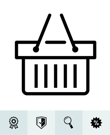 E-Commerce and online shopping icons with White Background Banco de Imagens - 105755142