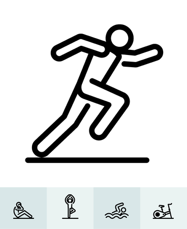 Fitness icons with White Background Banco de Imagens - 105755015