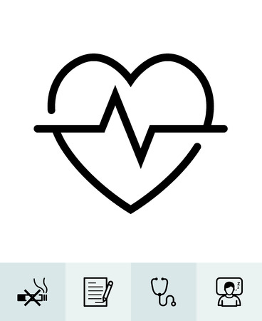 Health icons with White Background Banco de Imagens - 105755020