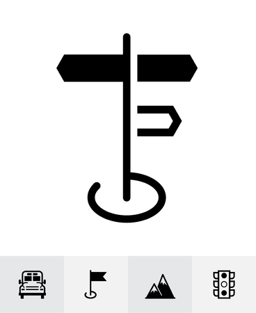 Map and location icons with White Background Banco de Imagens - 109588656