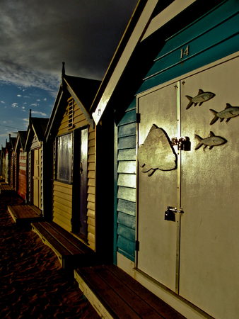 st kilda: Beach house in Brighton Stock Photo