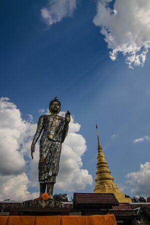 thai buddha: Thai temple and image of Buddha Stock Photo