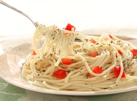 Pasta met rode paprika's