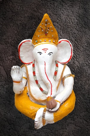 Hand sculpted statue of lord Ganesha photo