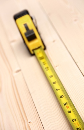 A diagonal perspective of a measuring tool Stock Photo