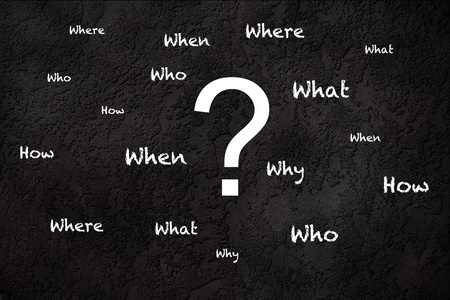 Common questions on a textured background Stock Photo - 13529701