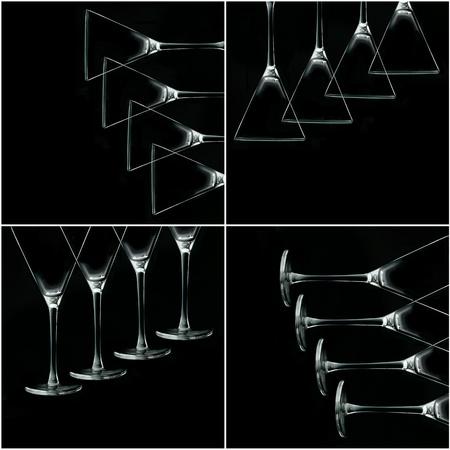 Still life photo with martini glasses Zdjęcie Seryjne