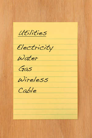 Common home utilities and expenses Stock Photo