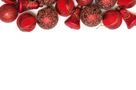 Christmas background with ornaments and decorations