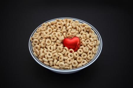 hart gezonde ontbijtgranen met vezels Stockfoto