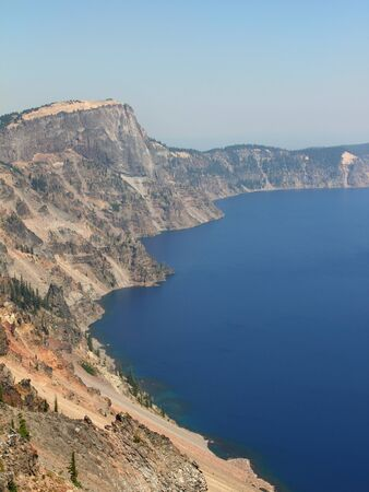 Crater lake national park - view from the rim of the crater Stock Photo