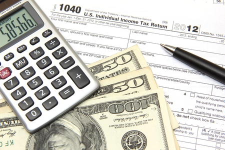 filing tax returns 2012 Stock Photo