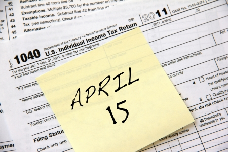 Income tax filing deadline for 2012 is April 17th