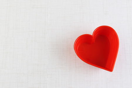 Heart shape greeting card template for valentine Stock Photo