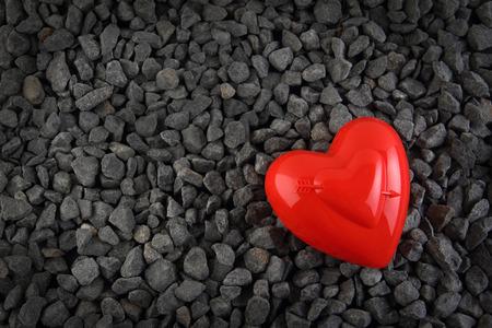 Valentines day heart on stones Stock Photo