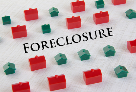 Housing market collapse and foreclosure concept Stock Photo