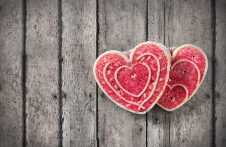 Greeting card with valentines day cookies