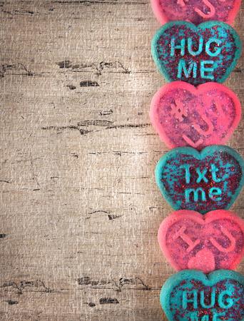 Valentijnsdag wenskaartsjabloon met cookies