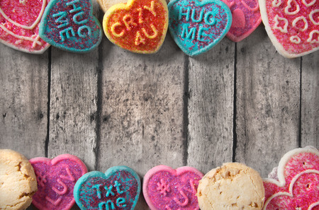 Valentines day greeting card template with cookies