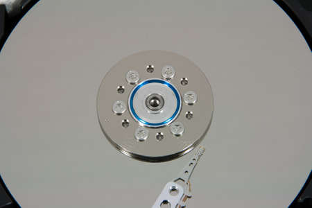 ide: Close up of hard disk drive inside