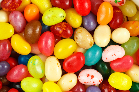 jelly beans: Close up of assorted multicolored jelly beans